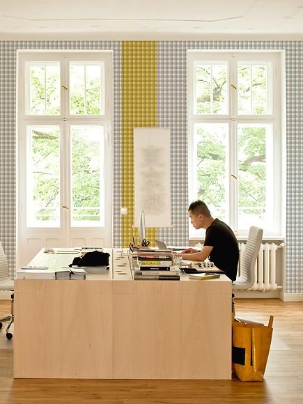 Mustertapete Karos 03 - Karos 03 und 04 im Büro