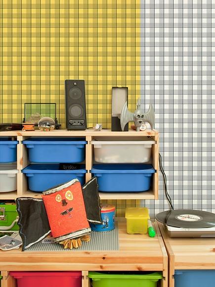 Mustertapete Karos 04 - Karos 03 und 04 im Kinderzimmer