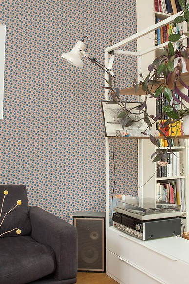Mustertapete Flores 04 - Flores 04 im Wohnzimmer