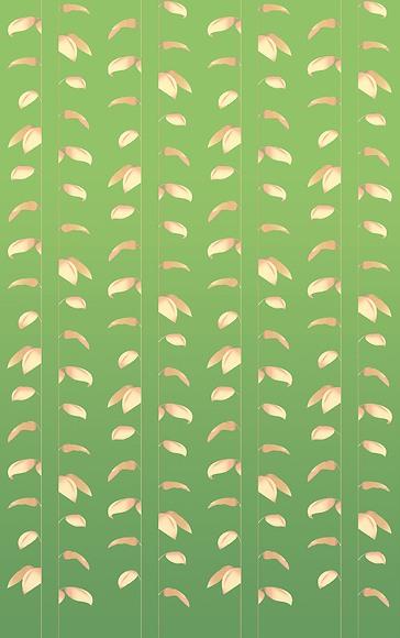 Mustertapete Plantas 01 - Gesamtansicht (4 Bahnen)
