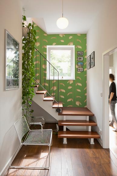 Mustertapete Plantas 01 - Plantas 01 im Treppenhaus