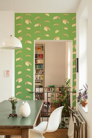 Mustertapete Plantas 01 - Plantas 01 im Wohnzimmer
