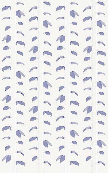 Mustertapete Plantas 02 - Gesamtansicht (4 Bahnen)