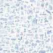 25hours Tapete 25hours Farbwelt Blau - Gesamtansicht