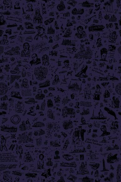 25hours Tapete 25hours Farbwelt Violett - Gesamtansicht