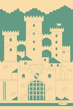 Kindertapete Burg