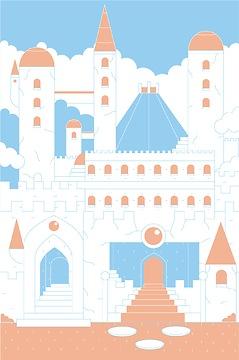 Kindertapete Schloss