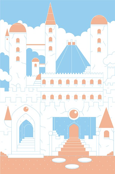 Kindertapete Schloss - Gesamtansicht