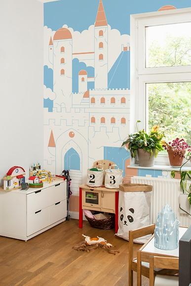 Kindertapete Schloss - Schloss im Kinderzimmer