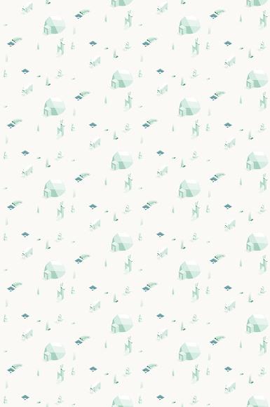Kindertapete Tundra - Gesamtansicht (2 Sets)