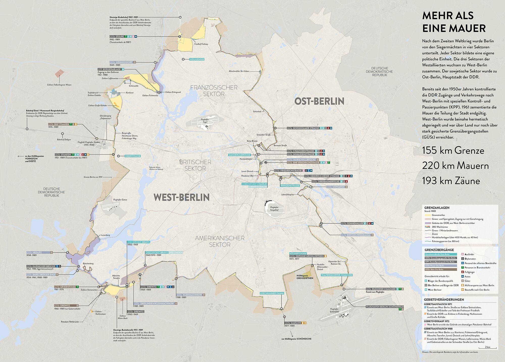 Bau Der Berliner Mauer Karte.Berliner Mauer