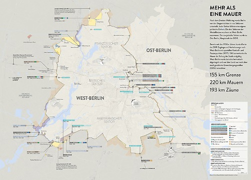 Infografik Tapete Berliner Mauer
