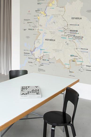 Infografik Tapete Berliner Mauer - Berliner Mauer im Büro