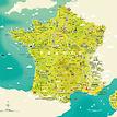 Infografik Tapete Ferien in Frankreich - Gesamtansicht