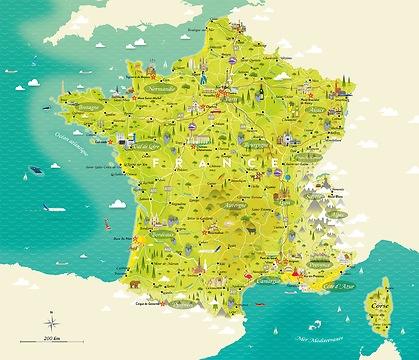 Infografik Tapete Ferien in Frankreich