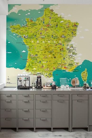 Infografik Tapete Ferien in Frankreich - Ferien in Frankreich in der Küche