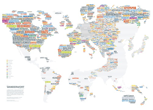 Infografik Tapete Wanderwort