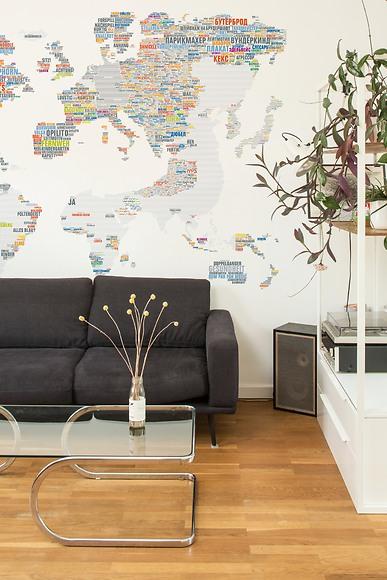 Infografik Tapete Wanderwort - Wanderwort im Wohnzimmer