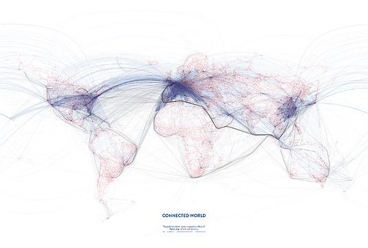Infografik Tapete Connected World 01