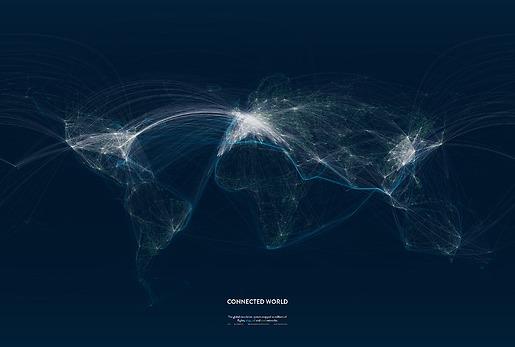 Infografik Tapete Connected World 02 - Gesamtansicht