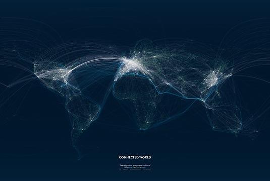 Infografik Tapete Connected World 02