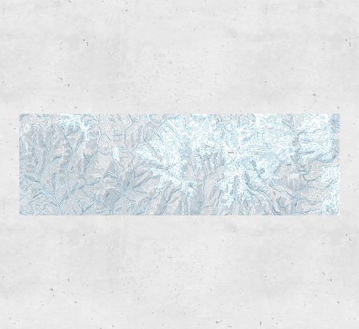 Kartentapete Mount Everest - Gesamtansicht