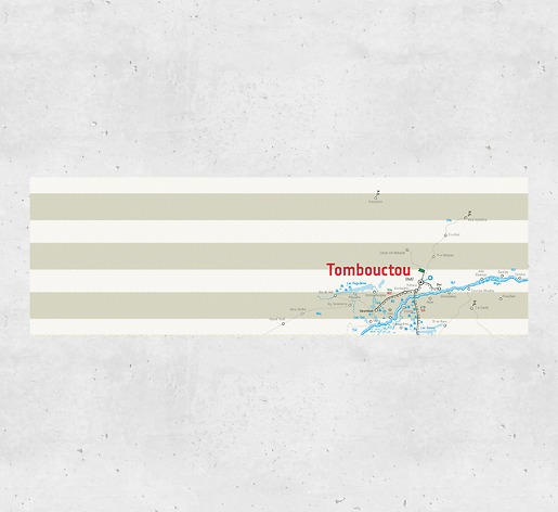 Karte Timbuktu - Gesamtansicht