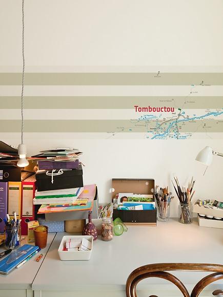 Karte Timbuktu - Timbuktu hinter dem Schreibtisch