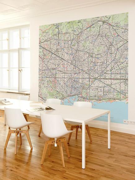 Stadtplan Barcelona - Barcelona im Arbeitszimmer
