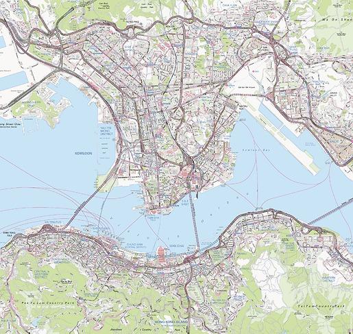 Stadtplan Hong Kong - Gesamtansicht