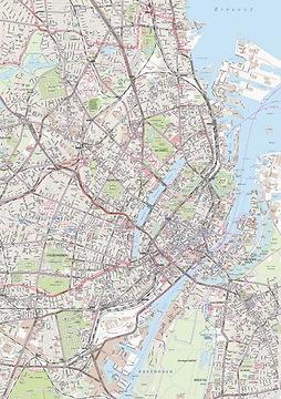 Stadtplan Kopenhagen