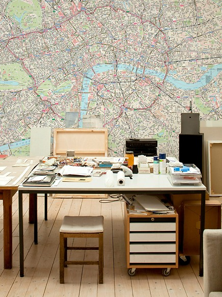 Stadtplan London - London im Arbeitszimmer