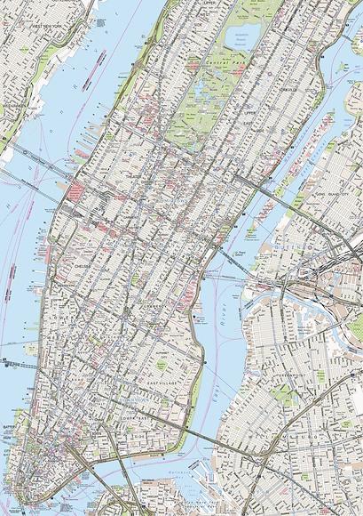 Stadtplan New York - Gesamtansicht