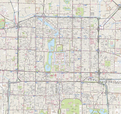 Stadtplan Peking - Gesamtansicht