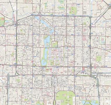 Stadtplan Peking