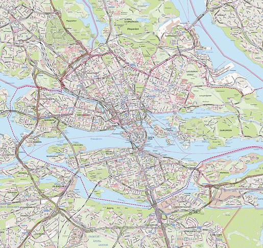 Stadtplan Stockholm - Gesamtansicht