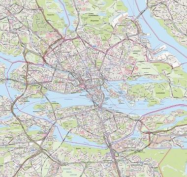 Stadtplan Stockholm