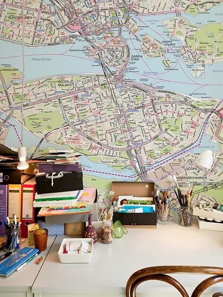 Stadtplan Stockholm - Stockholm im Arbeitszimmer