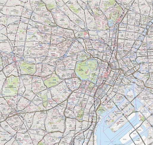 Stadtplan Tokio - Gesamtansicht