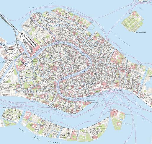 Stadtplan Venedig - Gesamtansicht