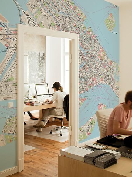 Stadtplan Venedig - Venedig im Büro