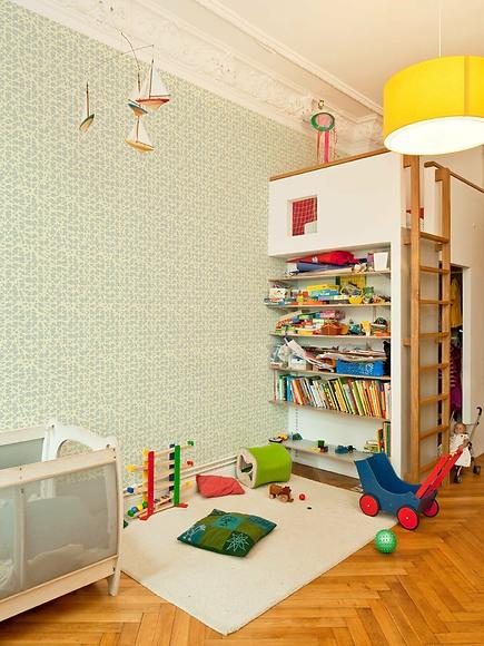 Mustertapete Floretta 02 - Floretta 02 im Kinderzimmer