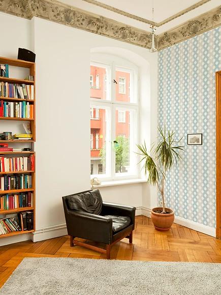 Mustertapete Luise 02 - Luise 02 im Wohnzimmer