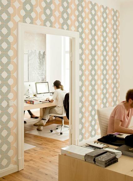 Mustertapete Lui 03 - Lui 03 im Büro