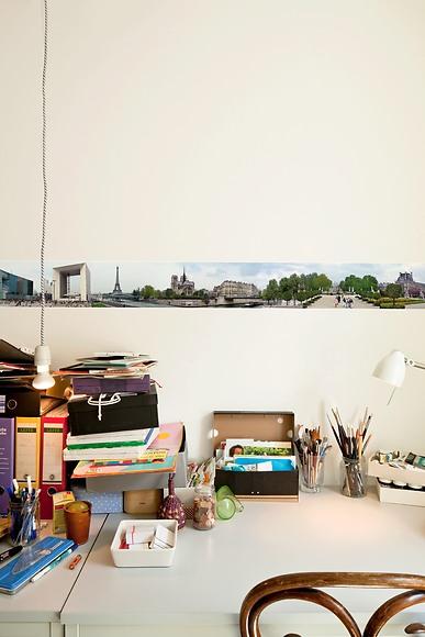 Panorama Borte Paris - Paris hinter dem Schreibtisch