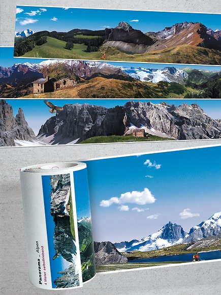 Panorama Borte Alpen - Ausschnitte