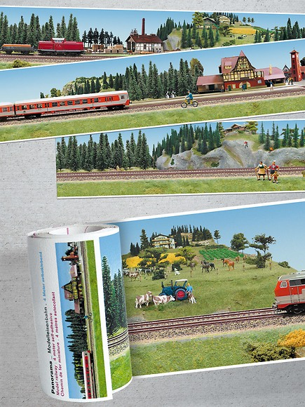 Panorama Borte Modelleisenbahn - Ausschnitte