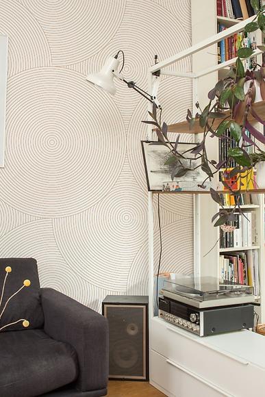 Mustertapete Kreise 02 - Kreise 02 im Wohnzimmer