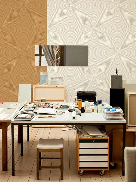 Mustertapete Kreise 02 - Kreise 02 und 04 im Studio