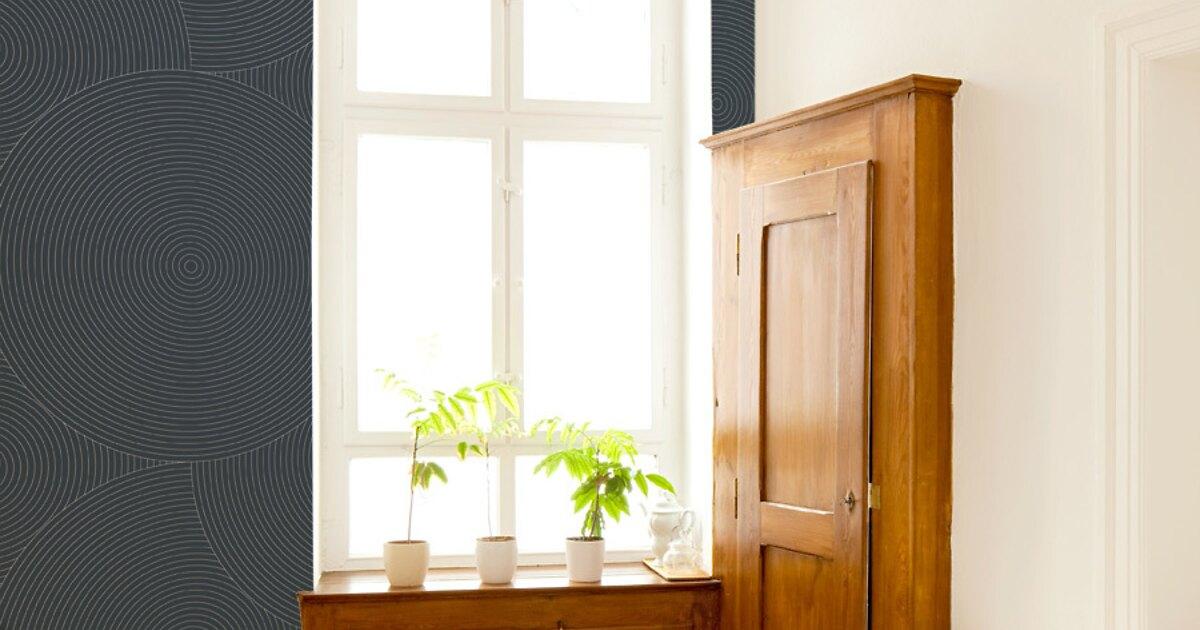 mustertapete kreise 03 vliestapeten designtapeten bei extratapete. Black Bedroom Furniture Sets. Home Design Ideas